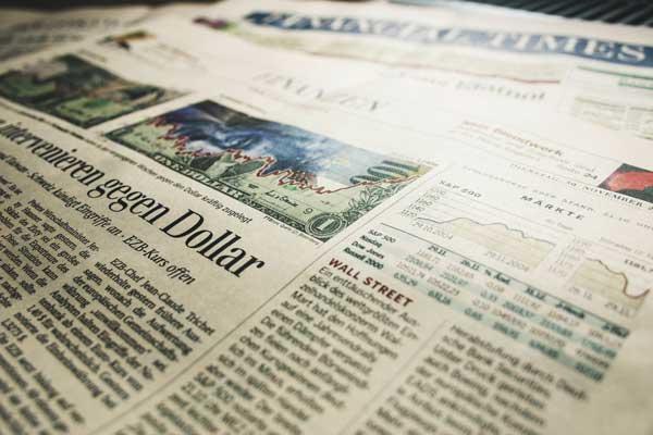 Nachrichten in einer Zeitung - Titelbild Neuigkeiten
