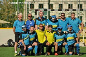 Blindenfussball Mannschaftsfoto